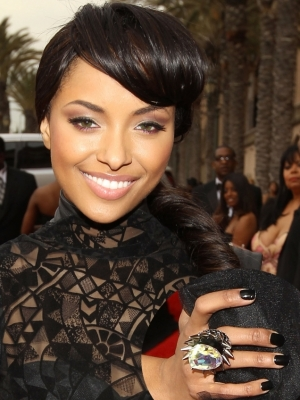 Kat Graham Dark Nail Color
