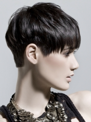 Short Close-Cropped Hair Style