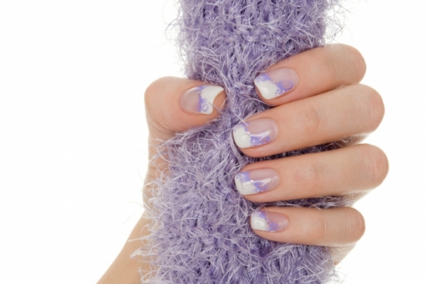 Purple French Manicure
