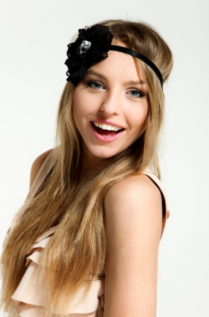 Long Hairstyles with Headband