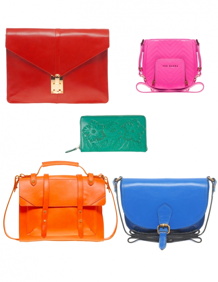 bright and neon colors handbags