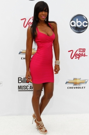 Kelly Rowland in Herve Leger