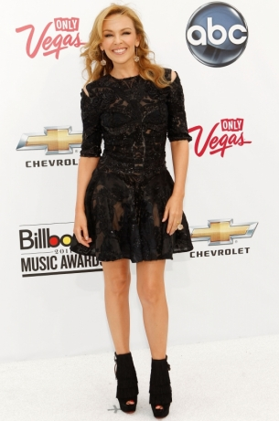 Kylie Minogue in lexander McQueen