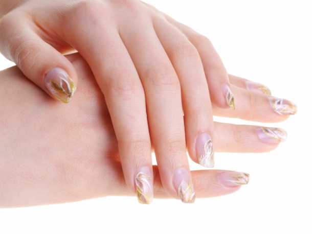 Gold French Nail Art