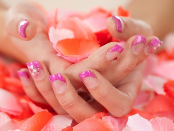 Colorful French Nail Art