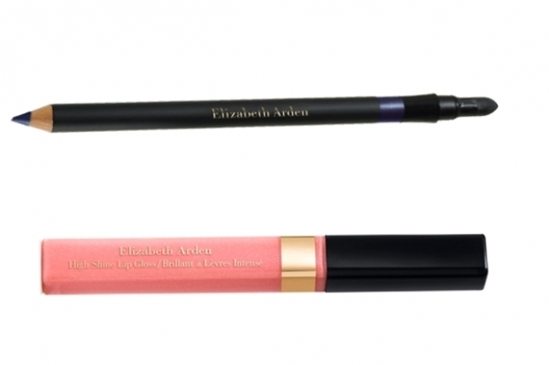 High Shine Lipgloss in Tropicoral and Smoky Eyes Powder Pencil