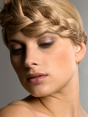 How to Style a Low Braided Updo
