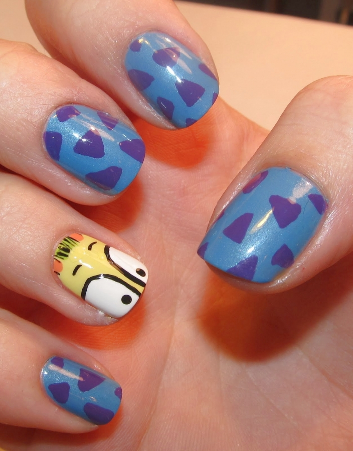 Character Design Nail Art : Nail arts cartoon character art designs