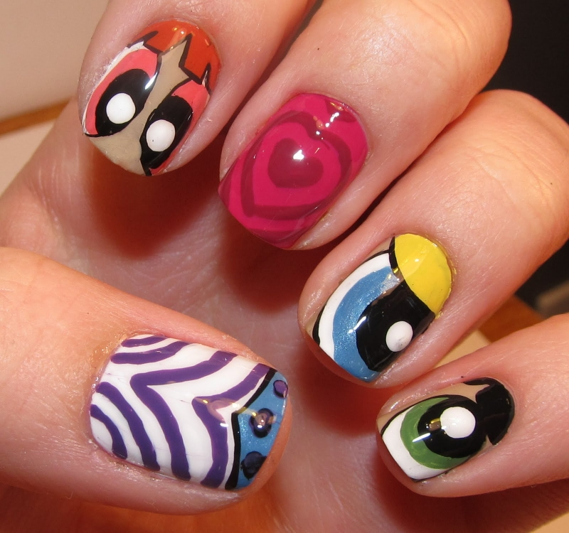 Nail Art Ideas: Funky Colorful Nail Art Ideas 2012