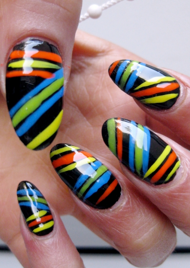 Nail Designs Stripes And Dots Gallery Stripes Polka Dot Nail