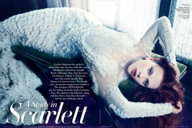 Scarlett Johansson covers Vanity Fair December 2011