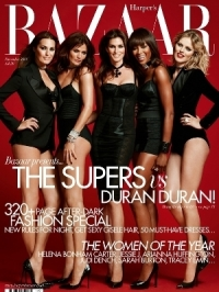 Supermodels Cover Harper's Bazaar UK December 2011