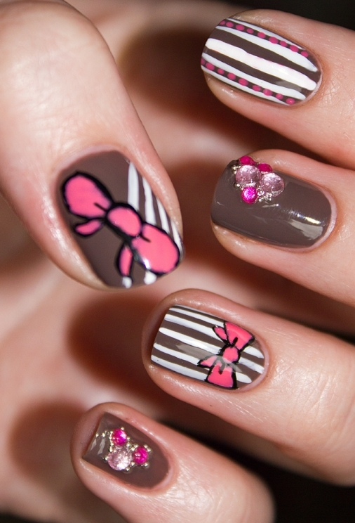 Tumblr Nail Designs Bow