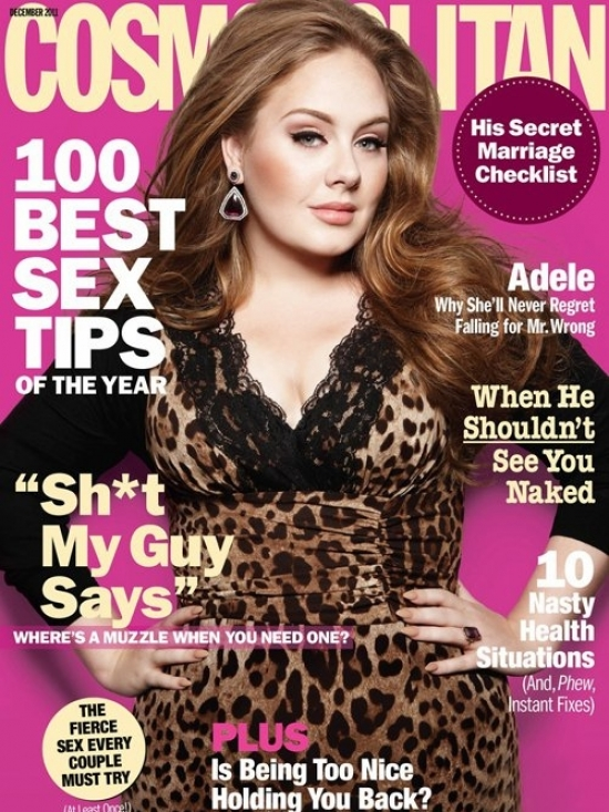 Adele Covers Cosmopolitan December 2011