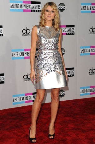 Heidi Klum at the 2011 AMAs Red Carpet