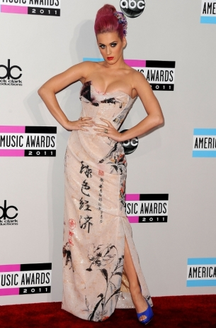 Katy Perry 2011 AMAs Red Carpet