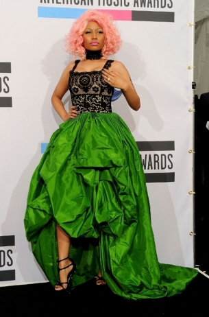 Nicki Minaj 2011 AMAs Red Carpet