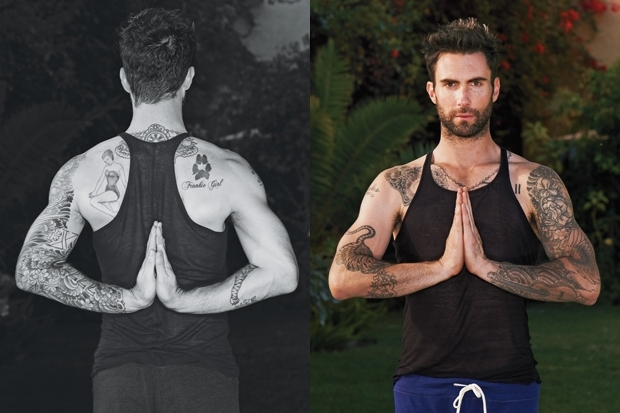 Adam Levine Talks Yoga Routine With Details Magazine