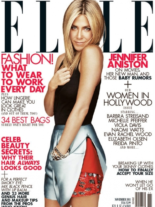 Jennifer Aniston Covers Elle November 2011