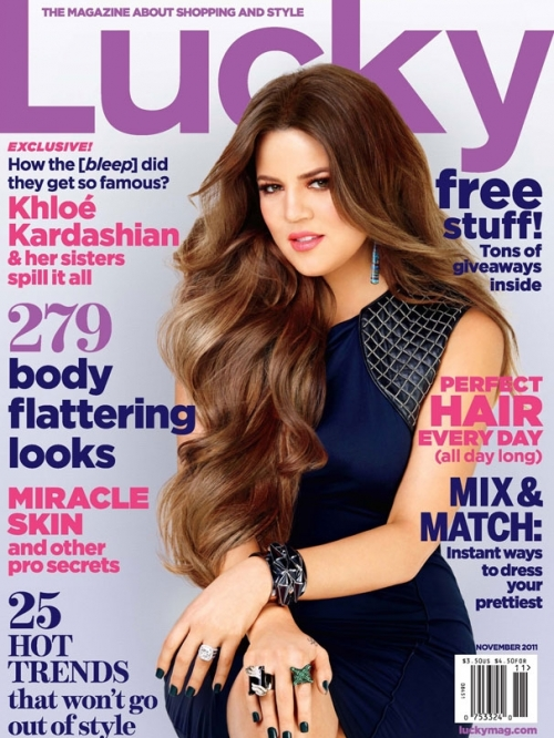 The Kardashian Sisters Cover Lucky November 2011