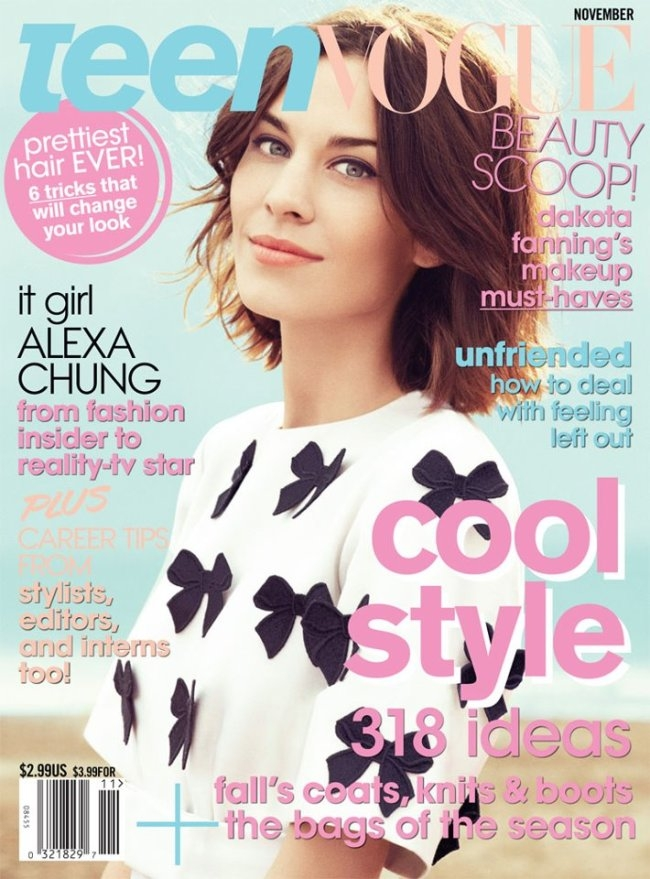 Teen Vogue Magazine Us March 2015 Cover: Alexa Chung Talks Style And New Show With Teen Vogue