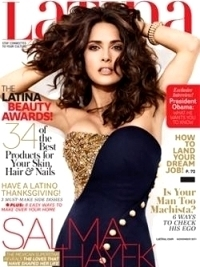 Salma Hayek Talks Skin Care with Latina November 2011