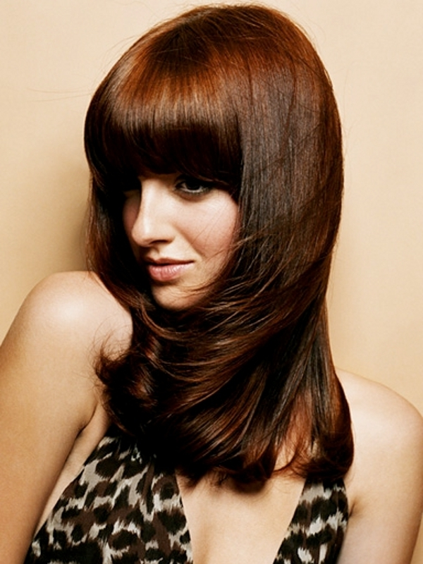 Glam Blunt Bangs Long Haircuts 2012
