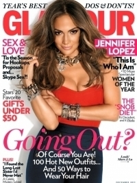Jennifer Lopez Glamour December 2011 Cover