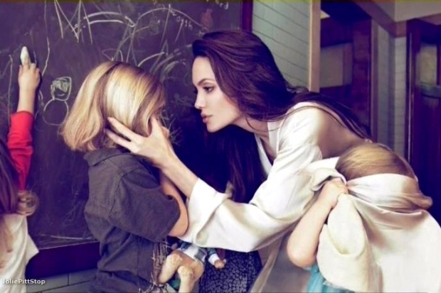 Angelina Jolie and Kids for Vanity Fair 2011