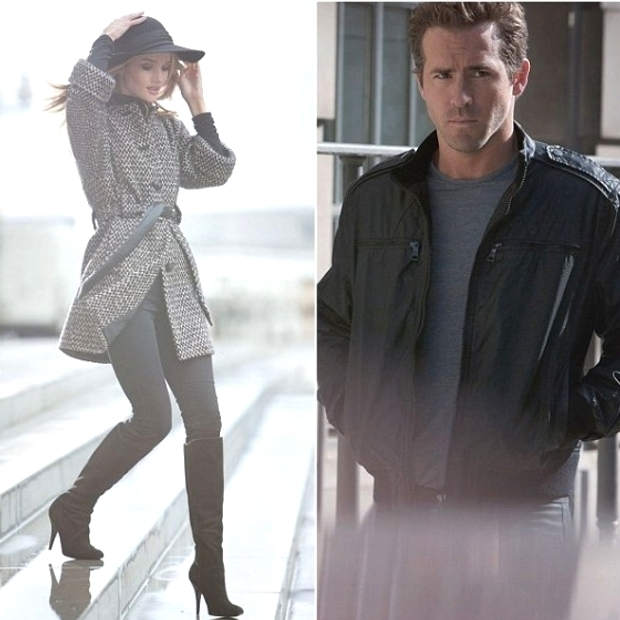 Rosie Huntington-Whitely and Ryan Reynolds for Marks and Spencer Campaign