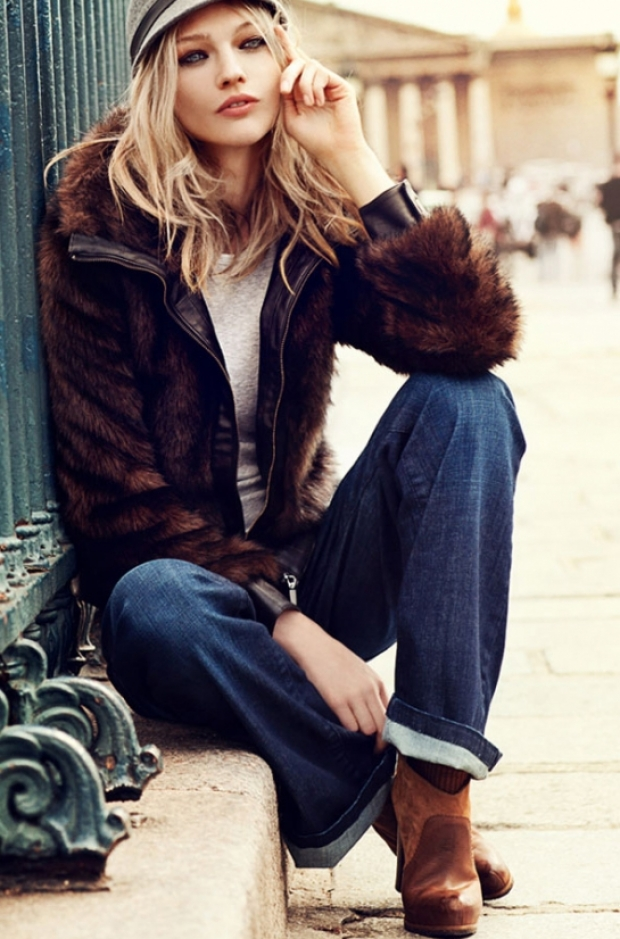 Sasha Pivovarova for Reserved Fall/Winter 2011-2012 Campaign