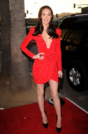 Megan Fox skinny frame in 2010