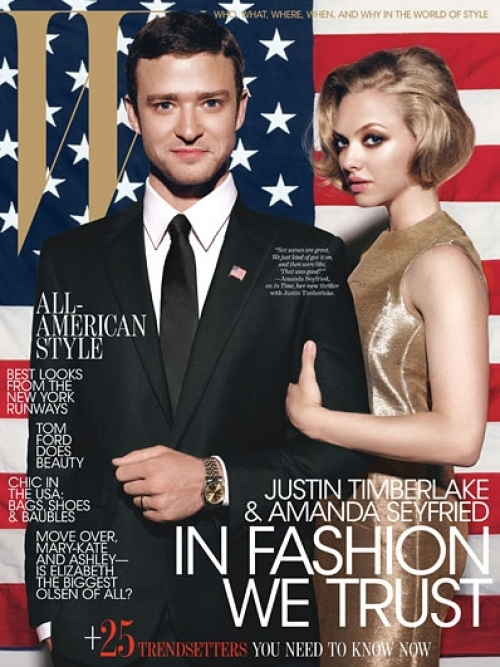 Justin Timberlake and Amanda Seyfried Cover W Magazine October 2011