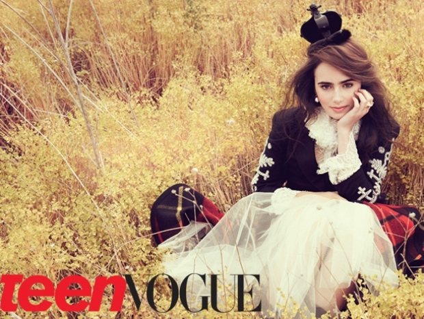 Lily Collins Covers Teen Vogue October 2011