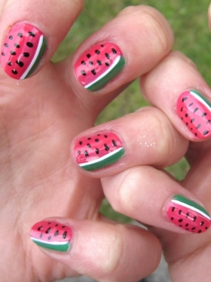 Watermelon Nail Art