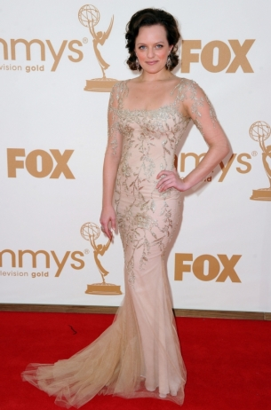 Elizabeth Moss 2011 Emmy Awards dress