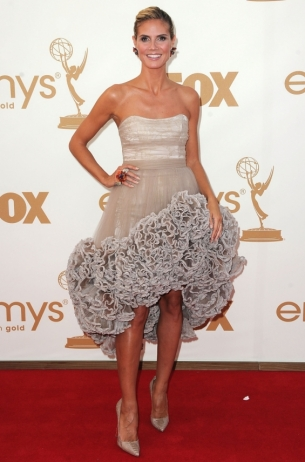 Heidi Klum 2011 Emmy Awards dress