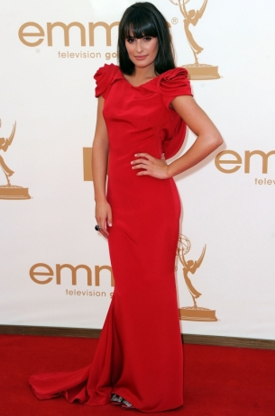 Lea Michele 2011 Emmy Awards dress