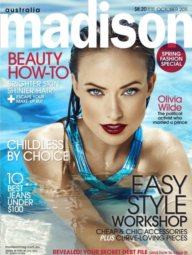 Olivia Wilde Covers Madison Magazine October 2011