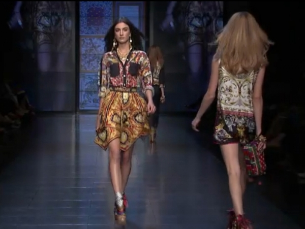 D&G Spring 2012 RTW Milan Fashion Week