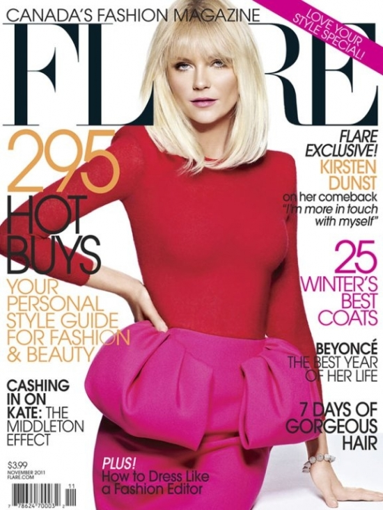 Kirsten Dunst Covers Flare November 2011
