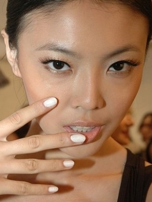 White Nail Color