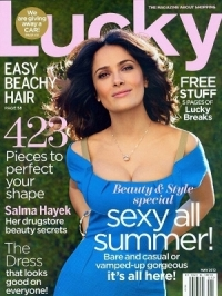 Salma Hayek Talks Acne Struggles with Lucky May 2012