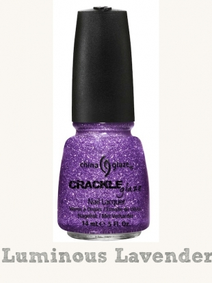 China Glaze Crackle Glitters Luminous Lavender