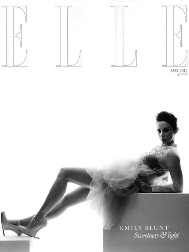 Emily Blunt Covers ELLE UK May 2012