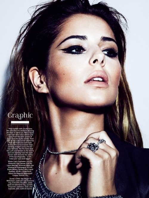 Cheryl Cole Presents the Hottest Eye Makeup Looks in Stylist Magazine