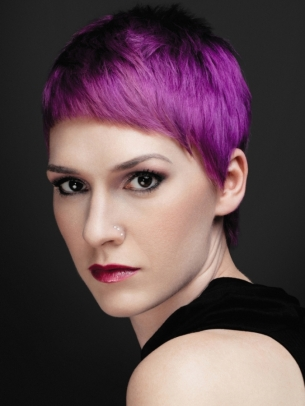 Purple Hair Color Idea