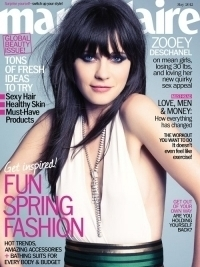 Zooey Deschanel Talks Being Bullied with Marie Claire May 2012