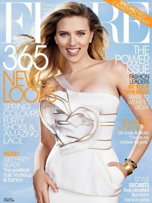 Scarlett Johansson Covers Flare 2012 May