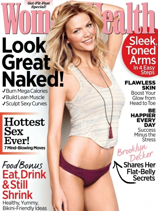 Brooklyn Decker Shares Diet and Fitness Secrets with Womens Health May 2012